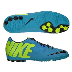 Nike FC247 Bomba Finale II Turf Soccer Shoes (Current Blue/Blue Hero/Black)