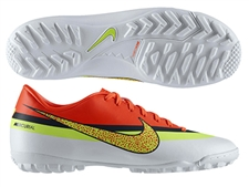 Sale $59.99 | Nike CR Mercurial Victory IV Turf Soccer Shoes (White/Loyal Blue/Total Crimson/Volt)
