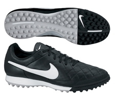 Nike Tiempo Legacy Soccer Turf Shoes (Black/White)
