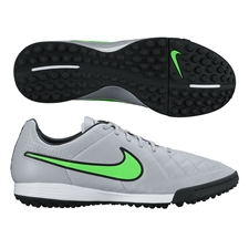 Nike Tiempo Legacy Soccer Turf Shoes (Wolf Grey/Black/Green Strike)