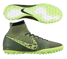 Nike Elastico Superfly TF Turf Soccer Shoes (Midnight Fog/Volt/Fierce Green/White)