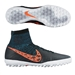 Nike Elastico Superfly TF Turf Soccer Shoes (Black/Blue Lagoon/Dark Grey/Total Crimson)