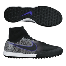 Nike MagistaX Proximo Street TF Turf Soccer Shoes (Black/Wolf Grey/White)