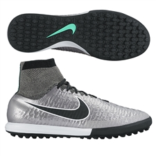 Nike MagistaX Proximo TF Turf Soccer Shoes (Metallic Pewter/Black/White)