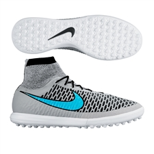 Nike MagistaX Proximo TF Turf Soccer Shoes (Wolf Grey/Black/Turquoise Blue)