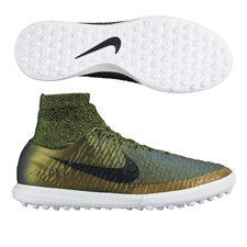 Nike MagistaX Proximo TF Turf Soccer Shoes (Dark Citron/White/Volt/Black)