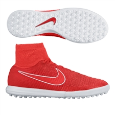 Nike MagistaX Proximo TF Turf Soccer Shoes (Challenge Red/White/Bright Crimson)