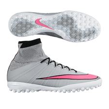 Nike MercurialX Proximo TF Turf Soccer Shoes (Wolf Grey/Black/White/Hyper Pink)