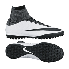 Nike MercurialX Proximo TF Turf Soccer Shoes (White/Black)