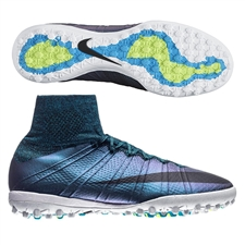 Nike MercurialX Proximo TF Turf Soccer Shoes (Squadron Blue/White/Volt/Black)