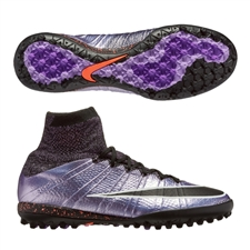 Nike MercurialX Proximo TF Turf Soccer Shoes (Urban Lilac/Bright Mango/Black)