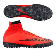 Nike MercurialX Proximo TF Turf Soccer Shoes (Bright Crimson/Black)