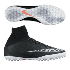 Nike MercurialX Proximo Street TF Turf Soccer Shoes (Black/Hot Lava/Anthracite/White)