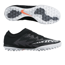 Nike MercurialX Finale Street TF Turf Soccer Shoes (Black/Hot Lava/White)