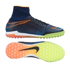 Nike HypervenomX Proximo Street TF Turf Soccer Shoes (Black/Total Orange/Racer Blue/Black)