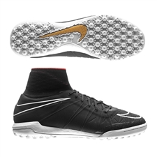 Nike HypervenomX Proximo TF Turf Soccer Shoes (Black/Challenge Red/White)