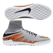 Nike HypervenomX Proximo TF Turf Soccer Shoes (Wolf Grey/Total Orange)
