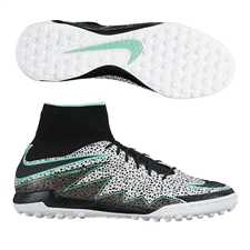 Nike HypervenomX Proximo Street TF Turf Soccer Shoes (White/Green Glow/Black)
