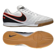 Nike Tiempo Mystic V IC Indoor Soccer Shoes (Pure Platinum/Black)