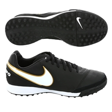 Nike Tiempo Mystic V TF Turf Soccer Shoes (Black/White)