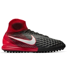 Nike MagistaX Proximo II DF TF Turf Soccer Shoes (Black/White/University Red)