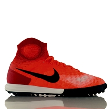 Nike MagistaX Proximo II DF TF Turf Soccer Shoes (Total Crimson/Black/University Red)