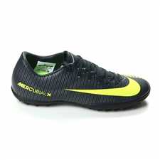 Nike Mercurial Victory VI CR7 Turf Soccer Shoes (Seaweed/Volt/Hasta/White)
