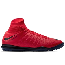 Nike HypervenomX Proximo II DF TF Turf Soccer Shoes (University Red/Black/Bright Crimson)