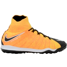 Nike HypervenomX Proximo II DF TF Turf Soccer Shoes (Laser Orange/White/Black/Volt)