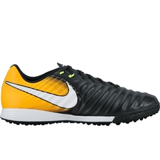 Nike TiempoX Ligera IV TF Turf Soccer Shoes (Black/White/Laser Orange/Volt)