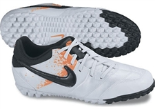 Nike5 Bomba Youth Turf Soccer Shoes (White/Total Orange/Black)