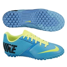 Nike FC247 Bomba II Youth Turf Soccer Shoes (Current Blue/Blue Hero/Black/Volt)
