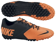 Nike FC247 Bomba II Youth Turf Soccer Shoes (Total Orange/Black)
