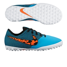 Nike FC247 Elastico Pro III TF Youth Turf Soccer Shoes ((Blue Lagoon/Black/White/Total Crimson)