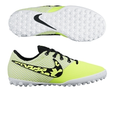 Nike FC247 Elastico Pro III TF Youth Turf Soccer Shoes (Volt/White/Black)