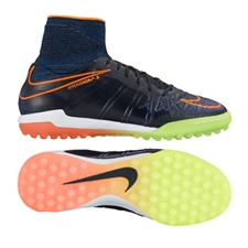 Nike Youth HypervenomX Proximo Street Turf Soccer Shoes (Black/Total Orange/Racer Blue/Black)