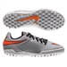 Nike HypervenomX Pro TF Youth Turf Soccer Shoes (Wolf Grey/Black/Total Orange)