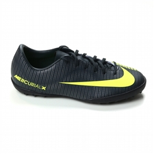 Nike Youth MercurialX Vapor XI CR7 TF Turf Soccer Shoes (Seaweed/Volt/Hasta/White)
