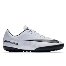 Nike Youth MercurialX Victory VI CR7 TF Turf Soccer Shoes (Blue Tint/Black/White)
