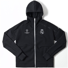 Adidas Real Madrid Anthem UCL Z.N.E. Hoodie (Black/White)