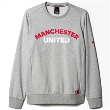 Adidas Manchester United FC Graphic Sweatshirt (Medium Gray/Heather)