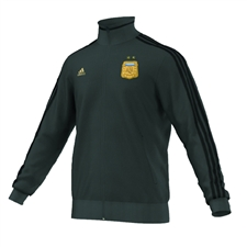 Adidas AFA Argentina 'MESSI 10' Track Top (DGH Solid Grey/Black/Light Football Gold)