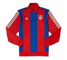 Adidas FC Bayern Munich Track Jacket (Red/Blue/White)