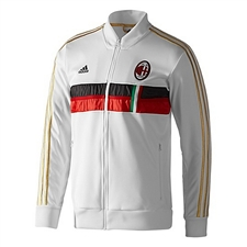 Adidas AC Milan Anthem Jacket 2013 (White/Red/Black)