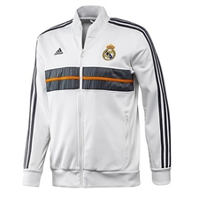 Adidas Real Madrid Anthem Jacket 2013 (White/Lead)