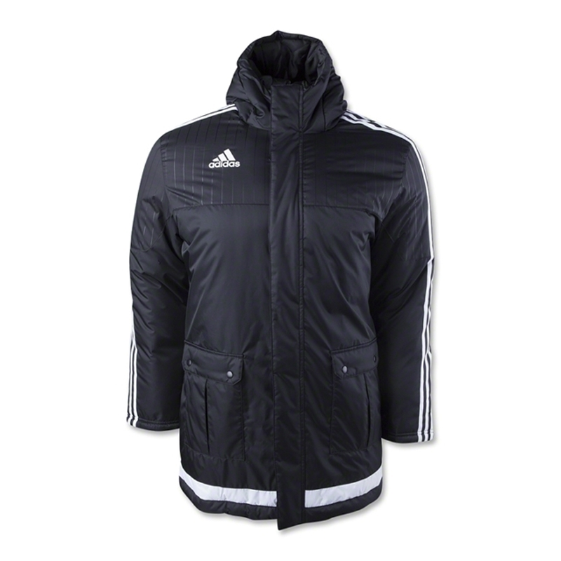 107 99 M64046 Adidas Tiro 15 Stadium Jacket In Black