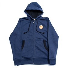 Manchester United 2013 Full Zip Soccer Hoodie (Navy/Black)