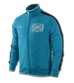 Nike Arsenal Authentic N98 Track Jacket (Neo Turguoise/Dark Obsidian/White)