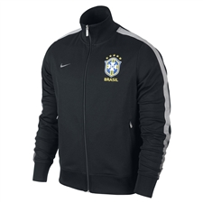 Nike Brasil Core Authentic N98 Training Soccer Jacket (Black/Anthracite)