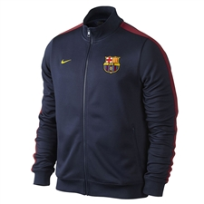 Nike FC Barcelona 2013 Authentic N98 Training Soccer Jacket (Midnight Blue/Storm Red)